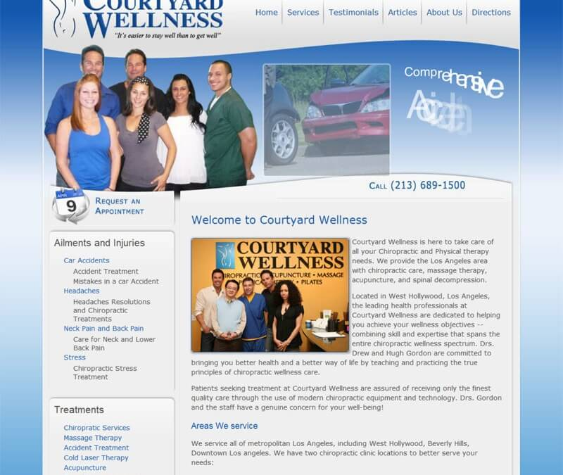 New Chiropractic Website for Los Angeles