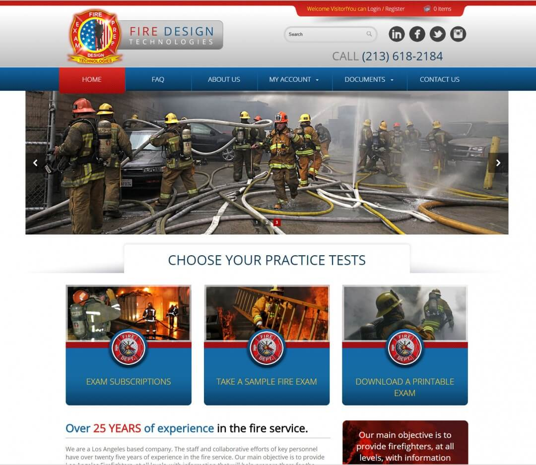 Fire Fighters Website and Testing System