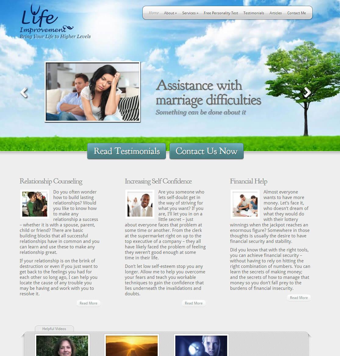 Self-Help website and testing
