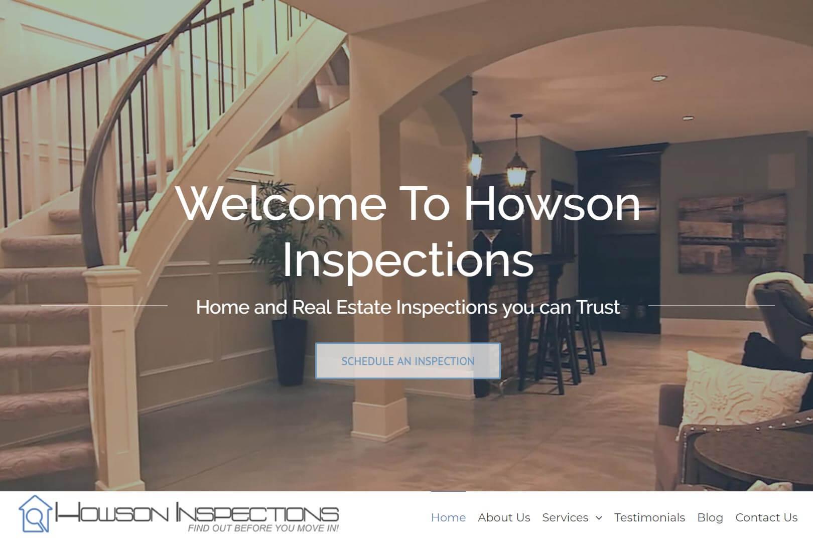 A Visually Striking Home Inspection Website. Skills